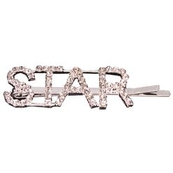 Bedazzled Word Barrettes Star