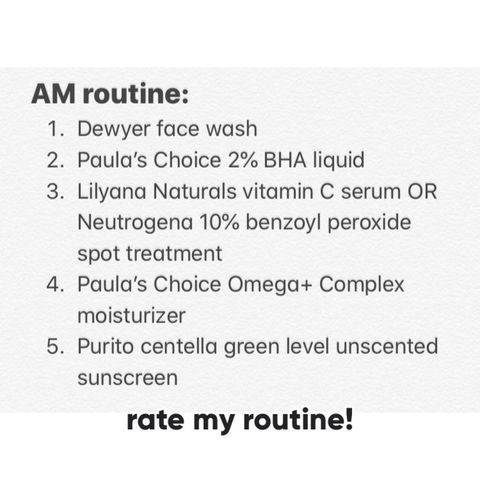 review my morning routine!