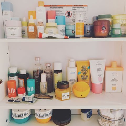 Updated skincare shelfie