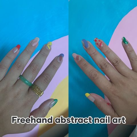 Abstract nail art by me!
