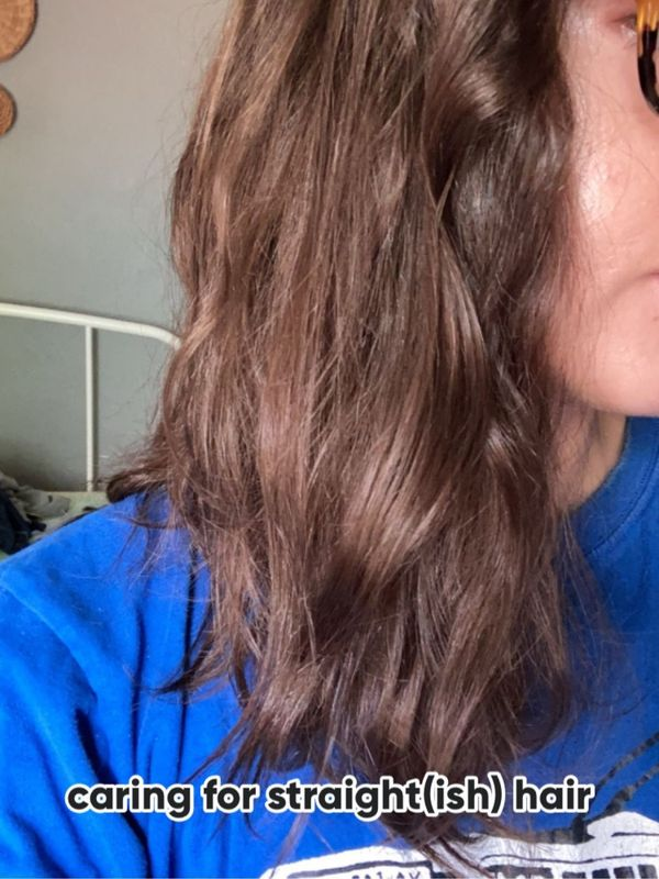 caring for straight(ish) hair | Cherie