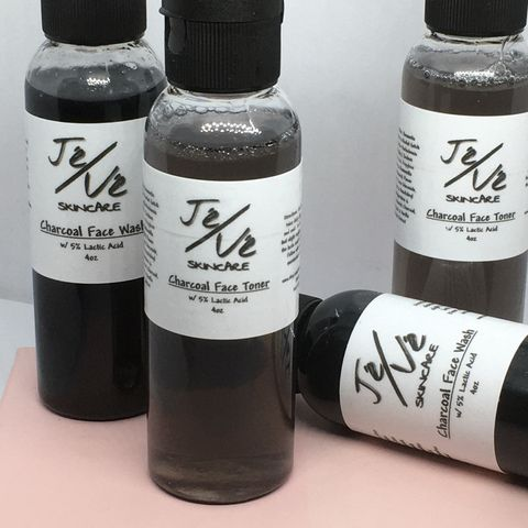 Charcoal and Lactic Acid Face Wash & Toner