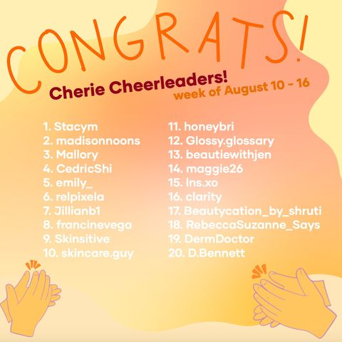 This week's Cherie Cheerleaders (8/17)
