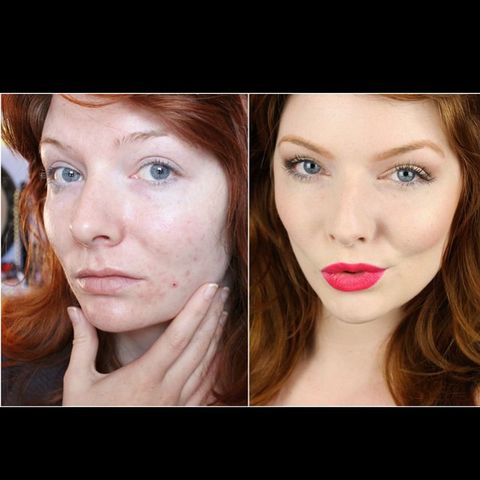 how lighting changes my skin & hair color!