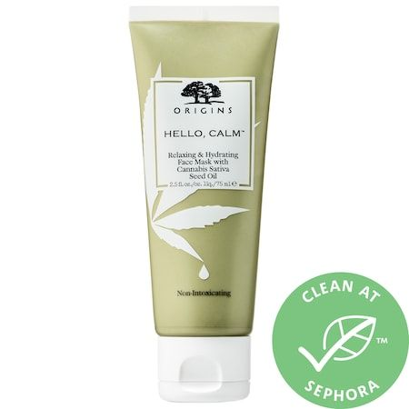 Hello Calm Relaxing & Hydrating Face Mask with Hemp Seed Oil