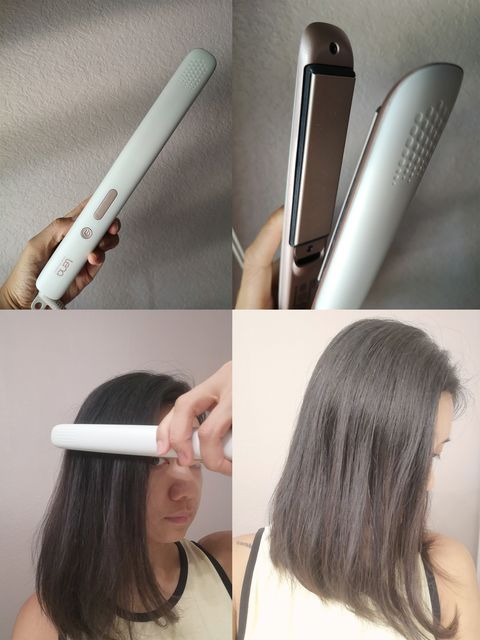 Creating sleek and straight hair with the hair straightener