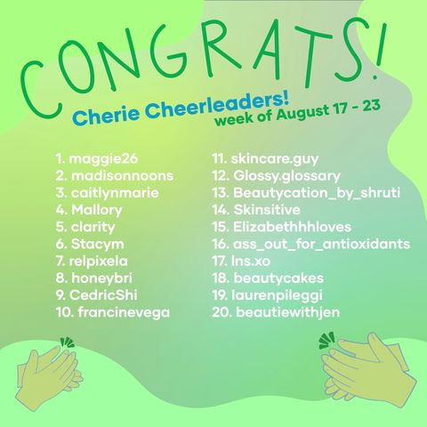 This week's Cherie Cheerleaders (8/24)