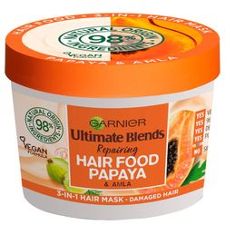 Ultimate Blends Hair Food Papaya 3-in-1 Damaged Hair Mask Treatment 390ml