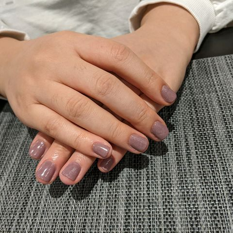 Natural nails dip manicure
