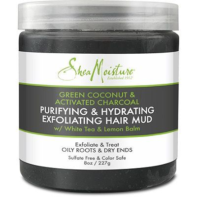 Green Coconut & Activated Charcoal Exfoliating Hair Mud, SheaMoisture, cherie