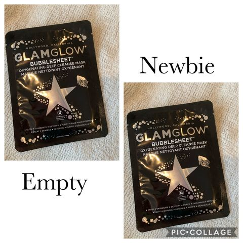 Old versus newbie glam glow bubble face mask!