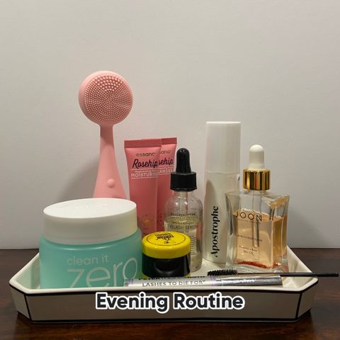 Current evening routine for dry, maturing skin