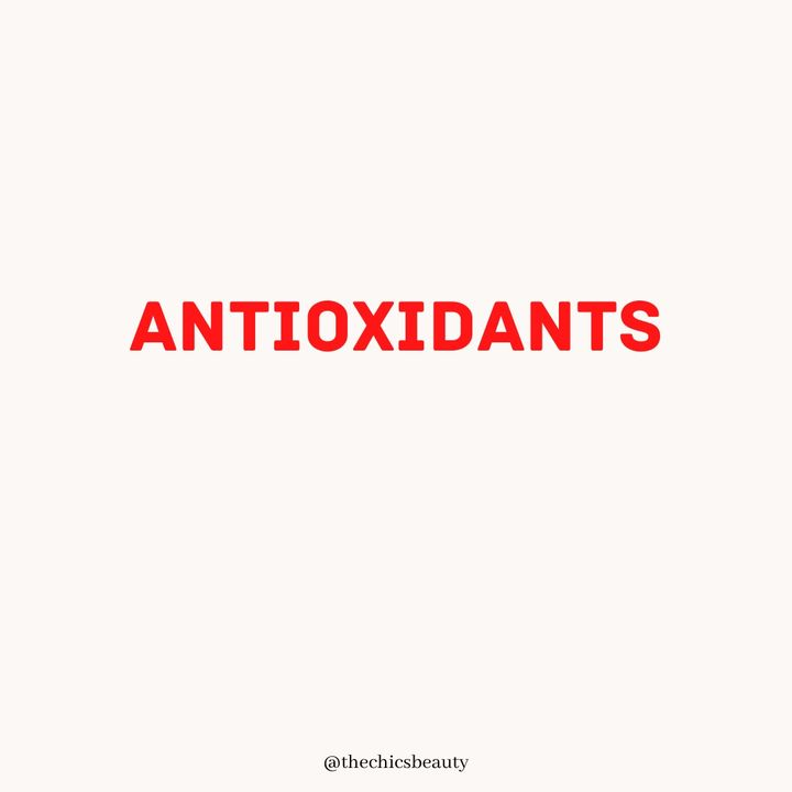 Antioxidants in skincare