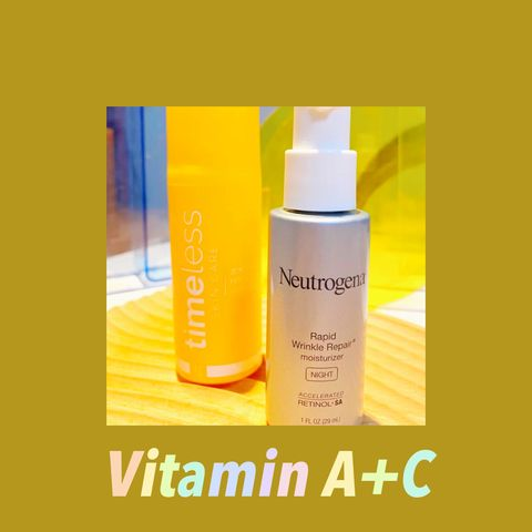 Better to use them together! Vitamin A+C 😘😘😘