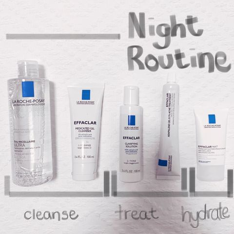 La Roche-Posay Night Time Acne Routine