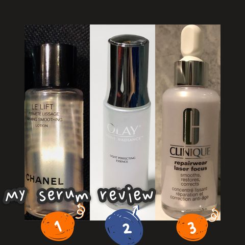 Effective and lighweight serums for dry and dull skin