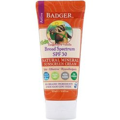 Active Kids, Natural Mineral Sunscreen Cream, SPF 30 PA+++, Tangerine & Vanilla
