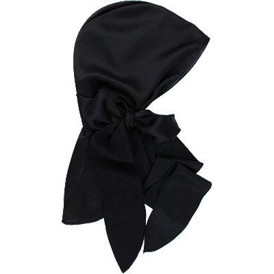 Black Satin Head Scarf