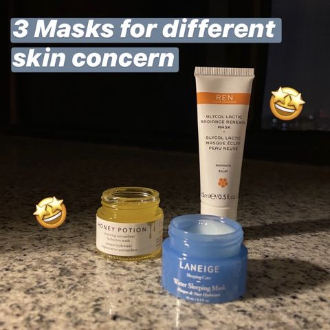 I've tried three facial masks and guess what happened...