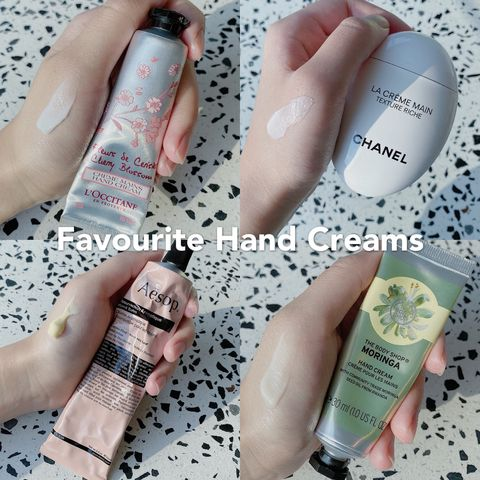 Frequently Used Hand Creams after Hand Washing