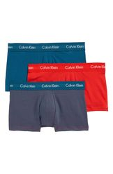 3-Pack Stretch Cotton Low Rise Trunks
