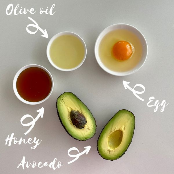 DIY mask for soft smooth hair 🥑  | Cherie