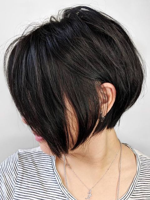 This short black hairstyle instantly slims my face!😱😱😱