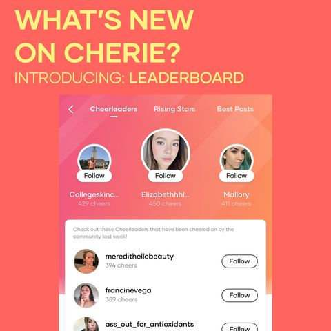 New on Cherie! Meet the Leaderboard