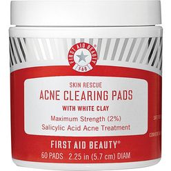 Skin Rescue Acne Clearing Pads with White Clay
