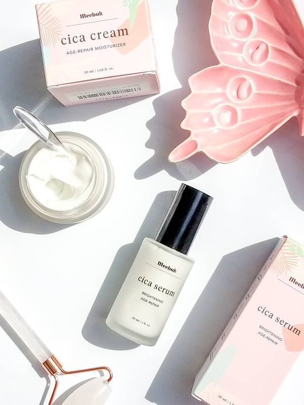 💫 𝖬𝖾𝖾𝖻𝖺𝗄 𝖱𝖾𝗏𝗂𝖾𝗐 💫 Cica Serum & Cica Cream I've been super excited to tell... | Cherie