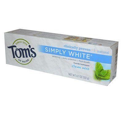Simply White Fluoride Toothpaste Clean Mint