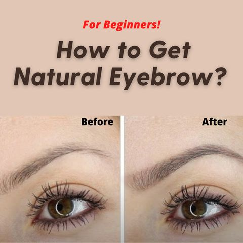 For beginners! Simple Ways To Fill In Your Eyebrows For A Natural Appearance!