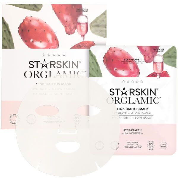 Orglamic Pink Cactus Oil Mask Hydrate + Glow Facial