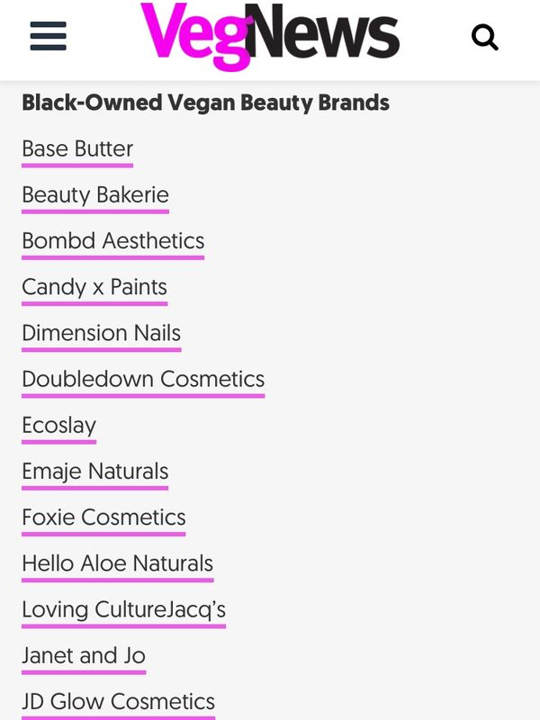 Black-Owned Vegan Beauty Brands 👌🏾💕 | Cherie