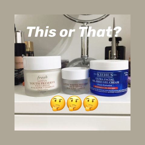 🤜🏻🤛🏻Kiehl's vs. Fresh, Guess Which Face Cream Is Better?