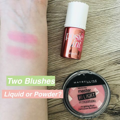 Blushes: liquid or powder?