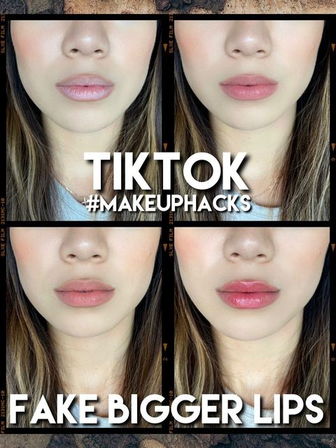 TIKTOK #MAKEUPHACKS: FAKE BIGGER LIPS💋