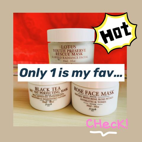 3 Fresh Best-selling Masks, BUT only 1 is my fav...🤔