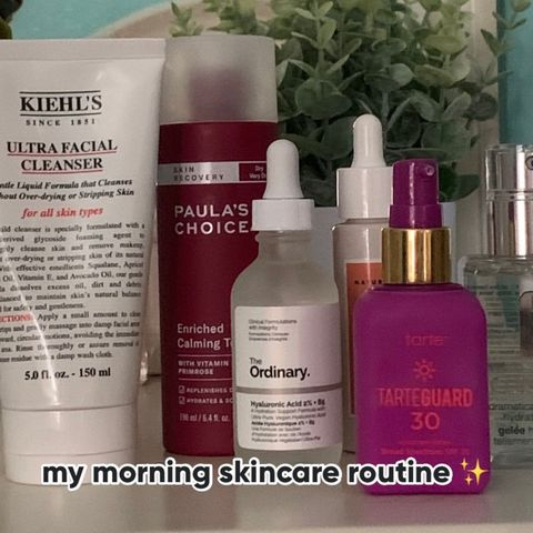 my morning skincare routine ✨