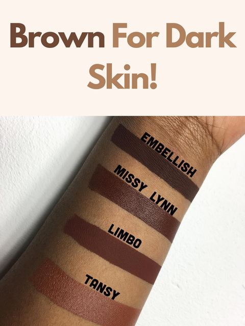 Four Awesome Brown Lipsticks for Dark Skin