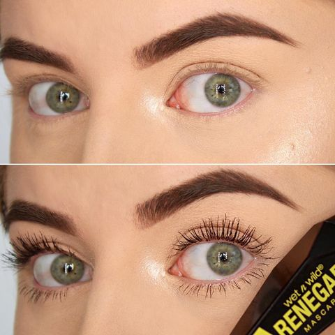 Mascara Before & After using w