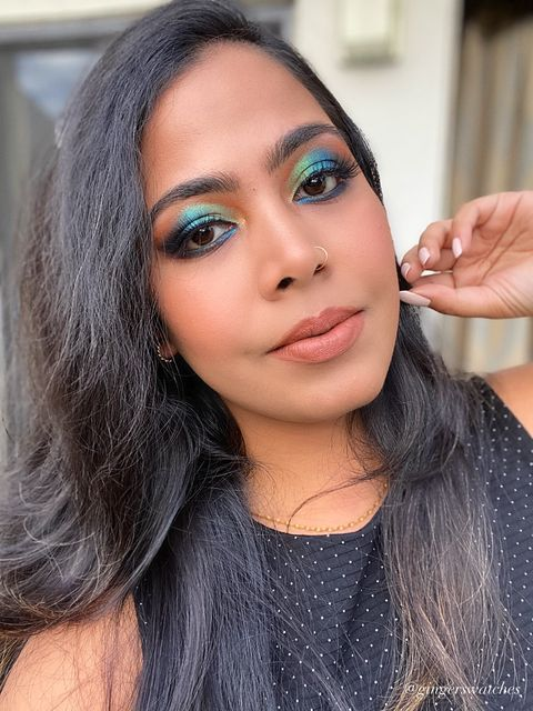 Spring and peacock inspired look