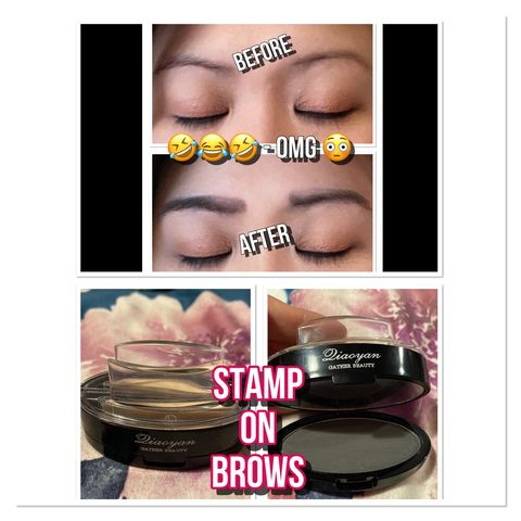 OMG 😳 I can't stop laughing - Stamp on brows!