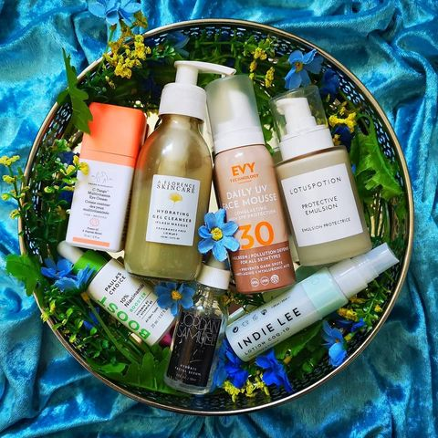 Here's this morning's skincare
