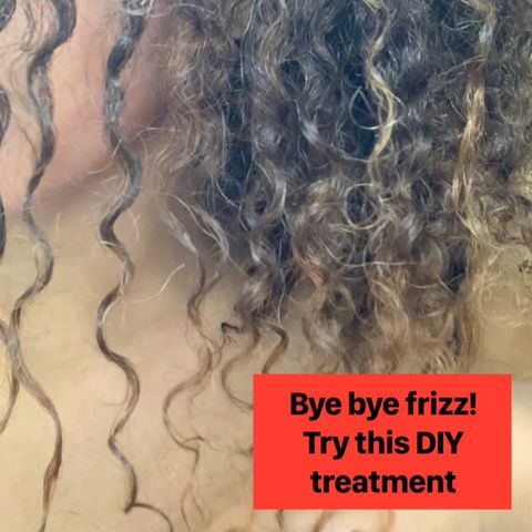 This DIY treatment will DEFRIZZ your hair 🤭