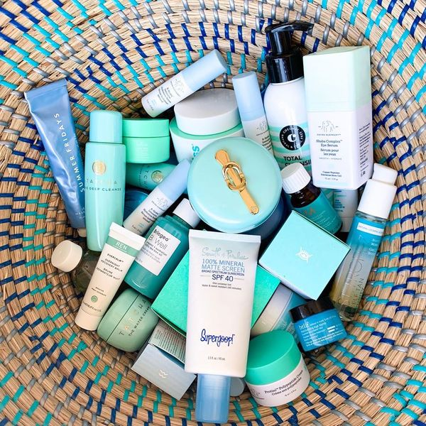 BASKET OF BLUES I use the Supergoop 100% Mineral Matte Screen every day! It's a... | Cherie