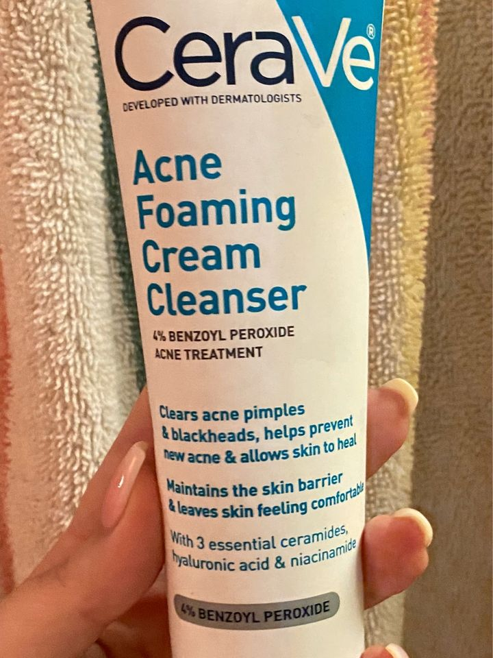 Cerave Acne Foaming Cream Cleanser Cherie