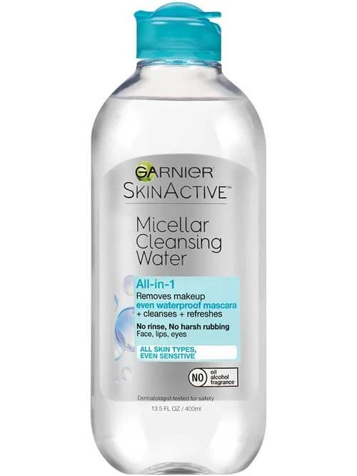 SkinActive Micellar Cleansing Water All-in-1 Cleanser & Waterproof Makeup Remover