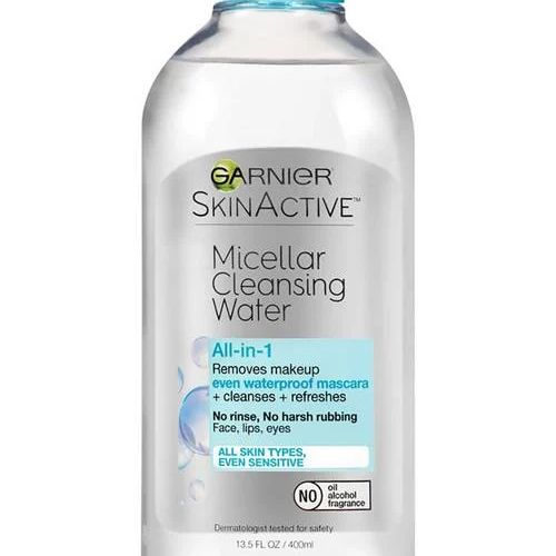 SkinActive Micellar Cleansing Water All-in-1 Cleanser & Waterproof Makeup Remover, GARNIER, cherie