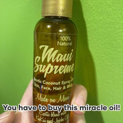 The best miracle oil for literally everything!!!